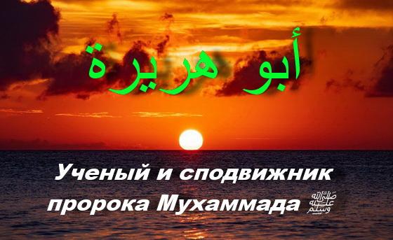 Абу Хурайра ученый и сподвижник пророка