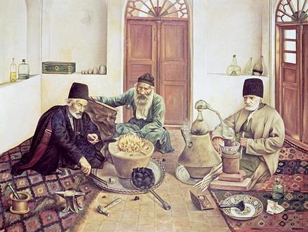мусульманские ученые за работой