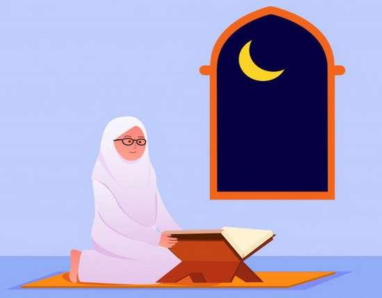 Мусульманка постоянно читает Коран