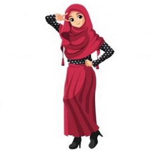 Девушка в красном хиджабе
